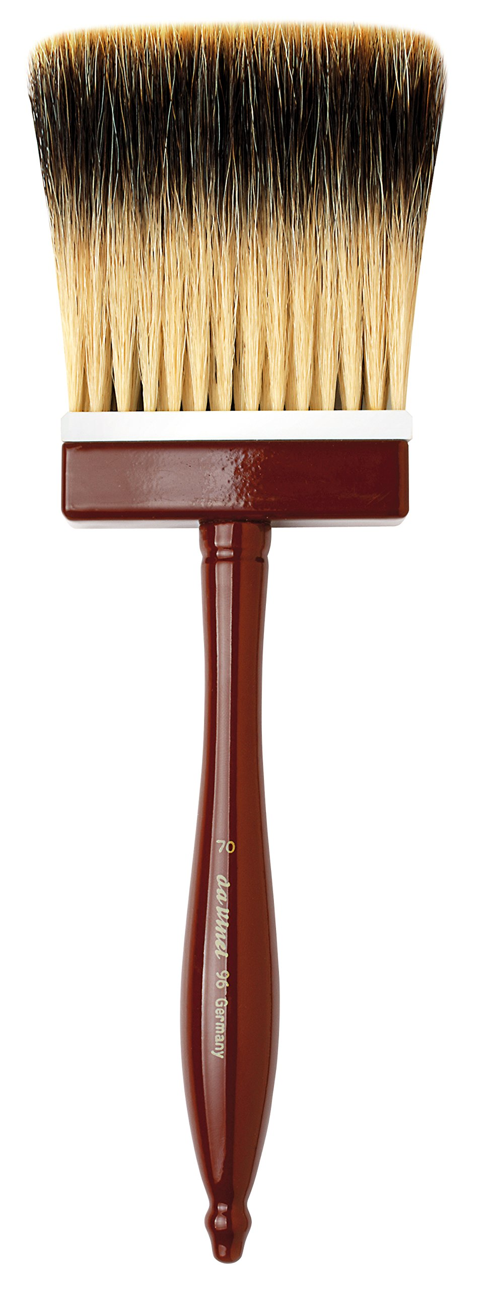 da Vinci Varnish & Priming Series 96 Softener Brush, 5-Row Thickness Pure Badger Hair with Wood Handle and Plastic Fastening, Size 70