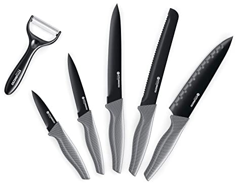 Juego de cuchillos de 5 piezas cocinados con pelador de ...