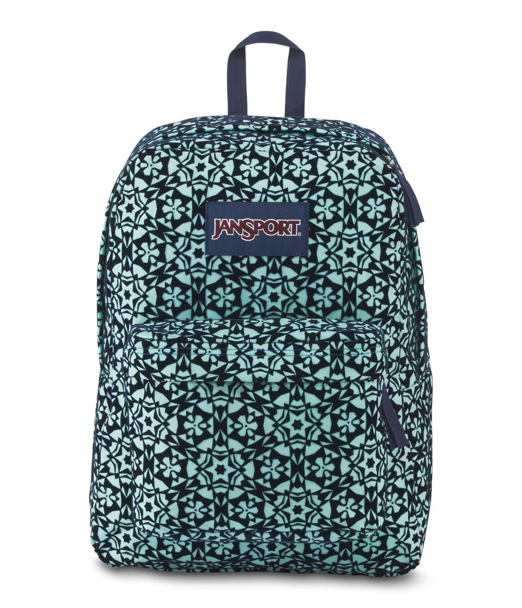 JanSport High Stakes Backpack- Sale Colors (Aqua Dash Morrocan Flock)