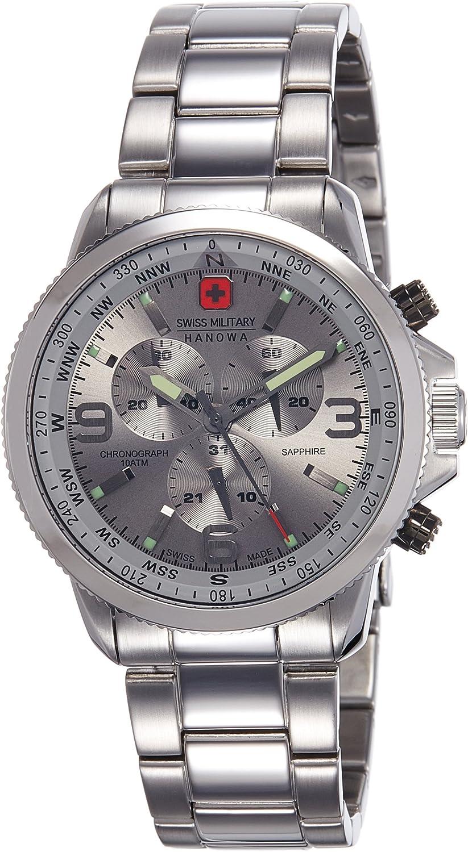 Swiss Military Hanowa Reloj Analógico para Hombre de Cuarzo con Correa en Acero Inoxidable 06-5250.04.009
