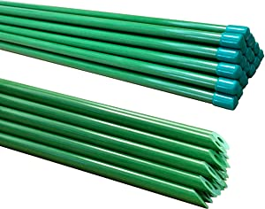 Jingdood 5-FT Garden Stakes,Tomato Cages,Tomato Stakes,Plant Stakes,Fiberglass Material(Pack of 20)…