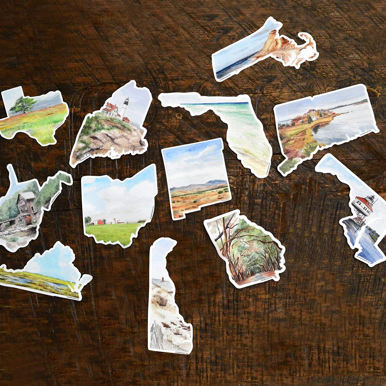 Amazon com 50 state mini vinyl decal sticker handmade