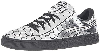 e605886b1b7be9 PUMA Men s Basket Classic Metallic Fashion Sneaker