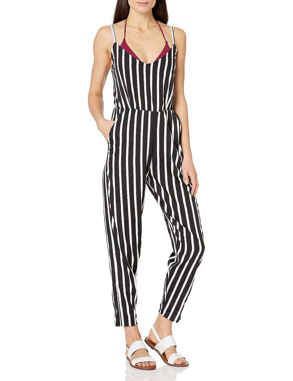 Splendid Womens Stripe Jumper Swimsuit Cover Up