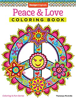 Peace Love Coloring Book Design Originals