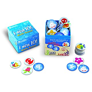 Learning Resources I Sea 10! Game, Addition and Subtraction, Includes 100 Cards, Ages 6+