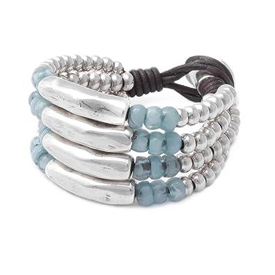 Beau Soleil Jewelry Damen Armband Lederarmband Ibiza-Schmuck aus Leder  (Braun) a4d6c8232f