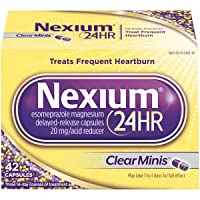 Nexium 24HR (42 Count, ClearMinis) All-Day, All-Night Protection from Frequent Heartburn...
