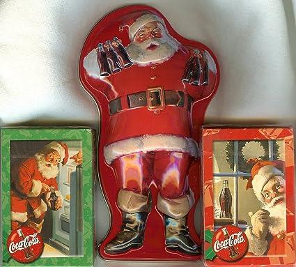 Coca-Cola Playing Cards Deck Sundblom Santa Children Holiday Christmas