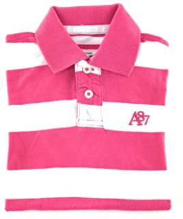 c31ef6544ed Aeropostale Mens A87 Textured Striped Rugby Polo Shirt Blue XS at ...