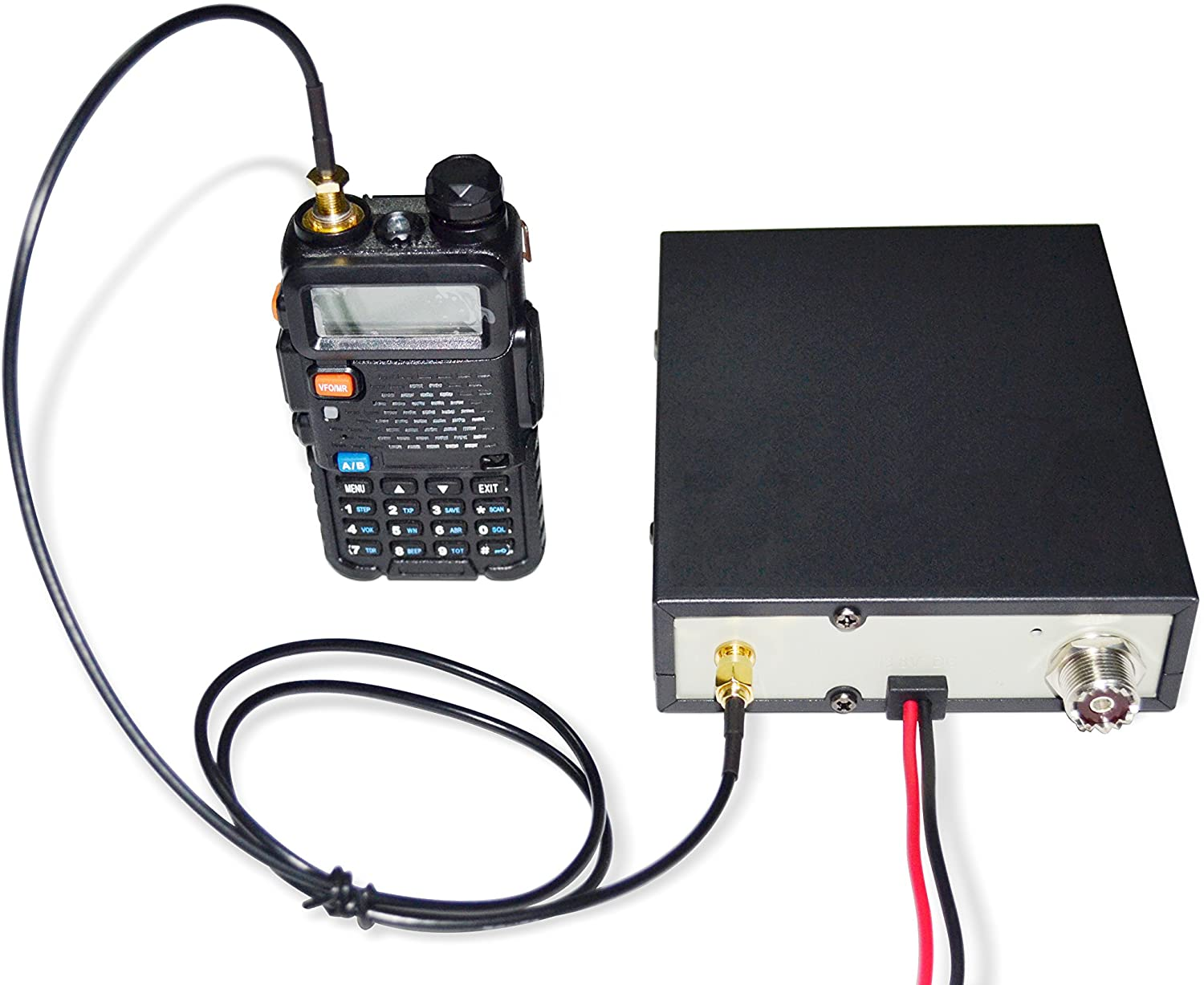 ICOM Supports DMR Yaesu 400-480MHz Motorola 20-40W Output Compatible with All Handheld Radios: BTECH BTECH AMP-U25D Amplifier 2-6W Input Kenwood BaoFeng Analog and Digital Modes UHF