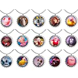 15 Movie S.I.N.G Flat Bottle Cap Necklaces for Birthday, Party Favors, Bag Fillers Set 1