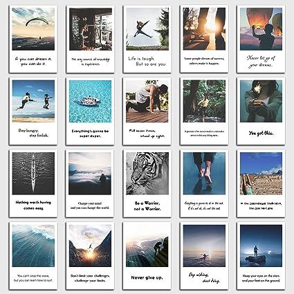 Set De 20 Tarjetas Postales Motivación Con Frases De