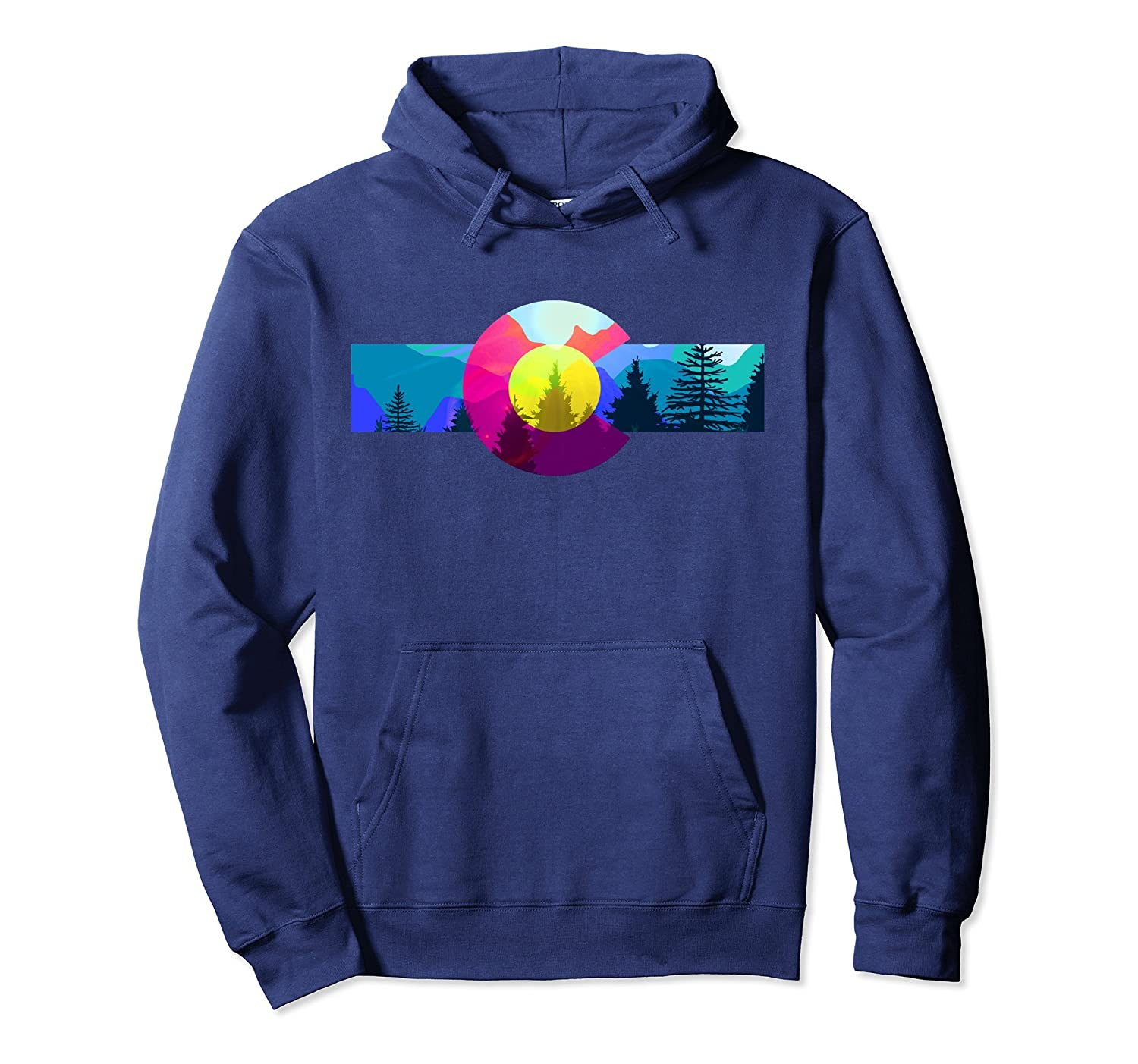 Colorado Hoodie - Colorful Colorado Rocky Mountains Hoodie-TH