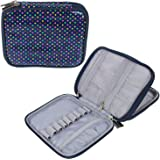 Teamoy Crochet Hook Case, Organizer Zipper Bag with Web Pockets for Various Crochet Needles and Knitting Accessories, Well Ma