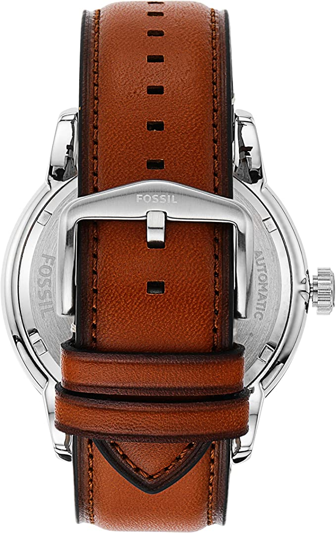 Fossil Men's Townsman ME3154 Silver Leather Automatic Fashion Watch