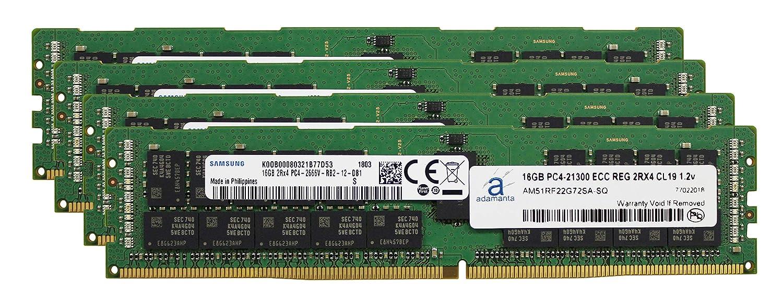 驚きの値段 Adamanta 64GB (4x16GB) サーバーメモリアップグレード (4x16GB) HP CL19 Z4 G4 DRAM ワークステーション DDR4 2666MHZ PC4-21300 ECC 登録チップ 2Rx4 CL19 1.2v DRAM RAM B07L6RDTJR, オリジナル職人屋:9c1dff9b --- arianechie.dominiotemporario.com