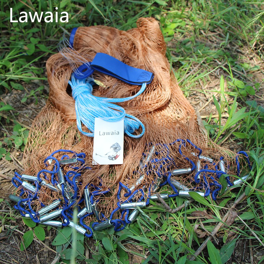 Lawaia釣りCasting Net Cast Iron Net 3.9 / 4.9 / 5.9ft / 6.85ft / 7.85ft / 8.85ft / 9.8ft / 10.8ft / 11.8ft B073312MSR  Length:6.85ft