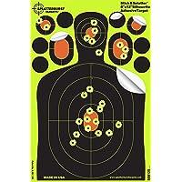 Paquete de 25 - 20,3 x 30,5 cm Splatterburst Stick & Splatter Adhesivo Silueta Objetivo de disparo - Fácil de ver los agujeros de bala - Excelente para todas rifles, pistolas y pistolas de aire.