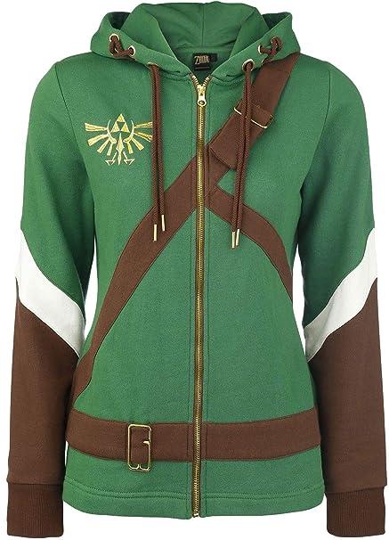 the best attitude b9964 2dfcd Felpa The Legend of Zelda Ladies Hooded Sweater Link Cosplay ...