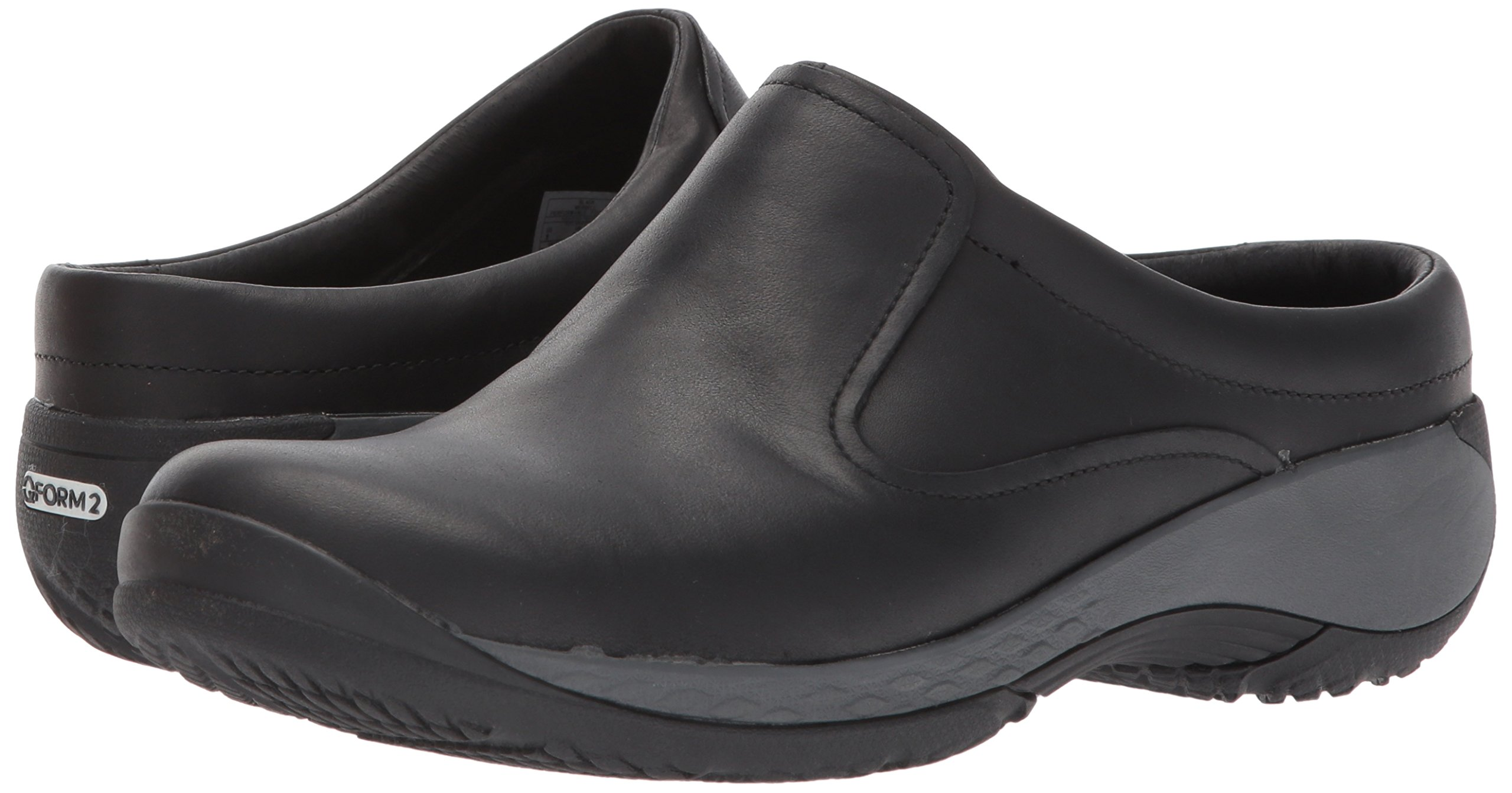 Merrell Leather Slip-On Clogs Encore Q2 Espresso Brown Size 6W Wide Women/'s