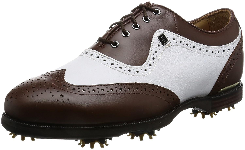 [フットジョイ] ゴルフシューズ FJ アイコン ブラック 52011J B016RQY358 26.5 cm Wide ホワイト/ブラウン2017モデル
