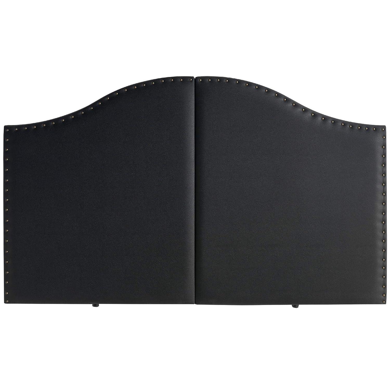 Marckonfort Cabezal Partido tapizado Lyon 160X95 con Tachuelas Negro: Amazon.es: Hogar