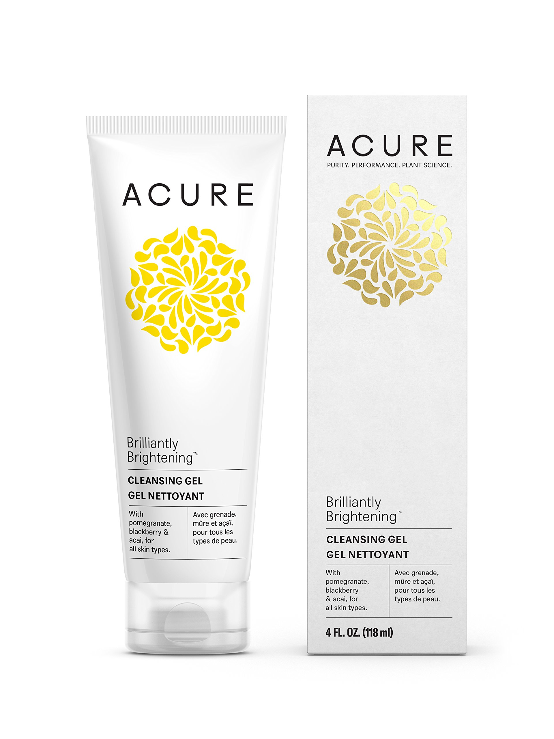 Acure Brilliantly Brightening Cleansing Gel, 4 Fluid Ounces