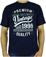 1999 Vintage Year - Aged To Perfection - 18th Birthday Gift / Present Mens T-Shirt
