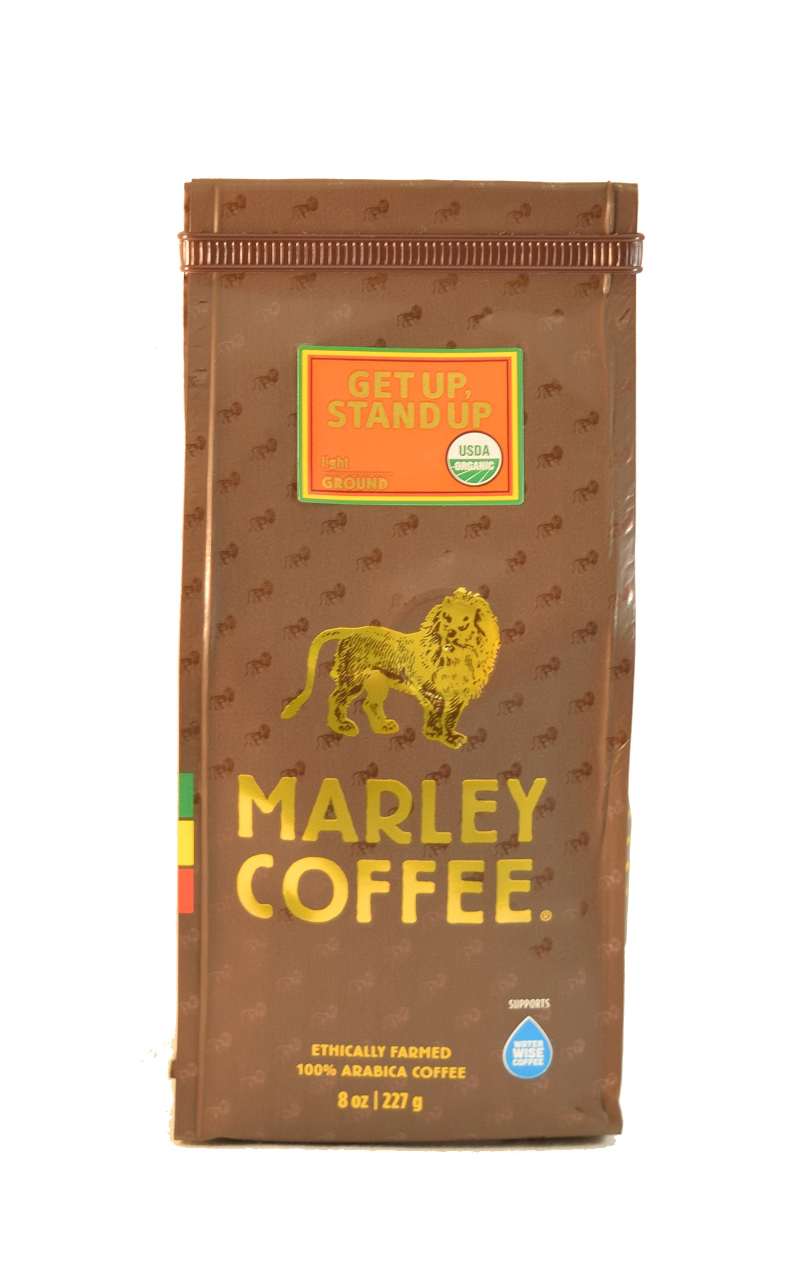 Marley Coffee, Organic Get Up, Stand Up, Ground Coffee, 8 Ounce