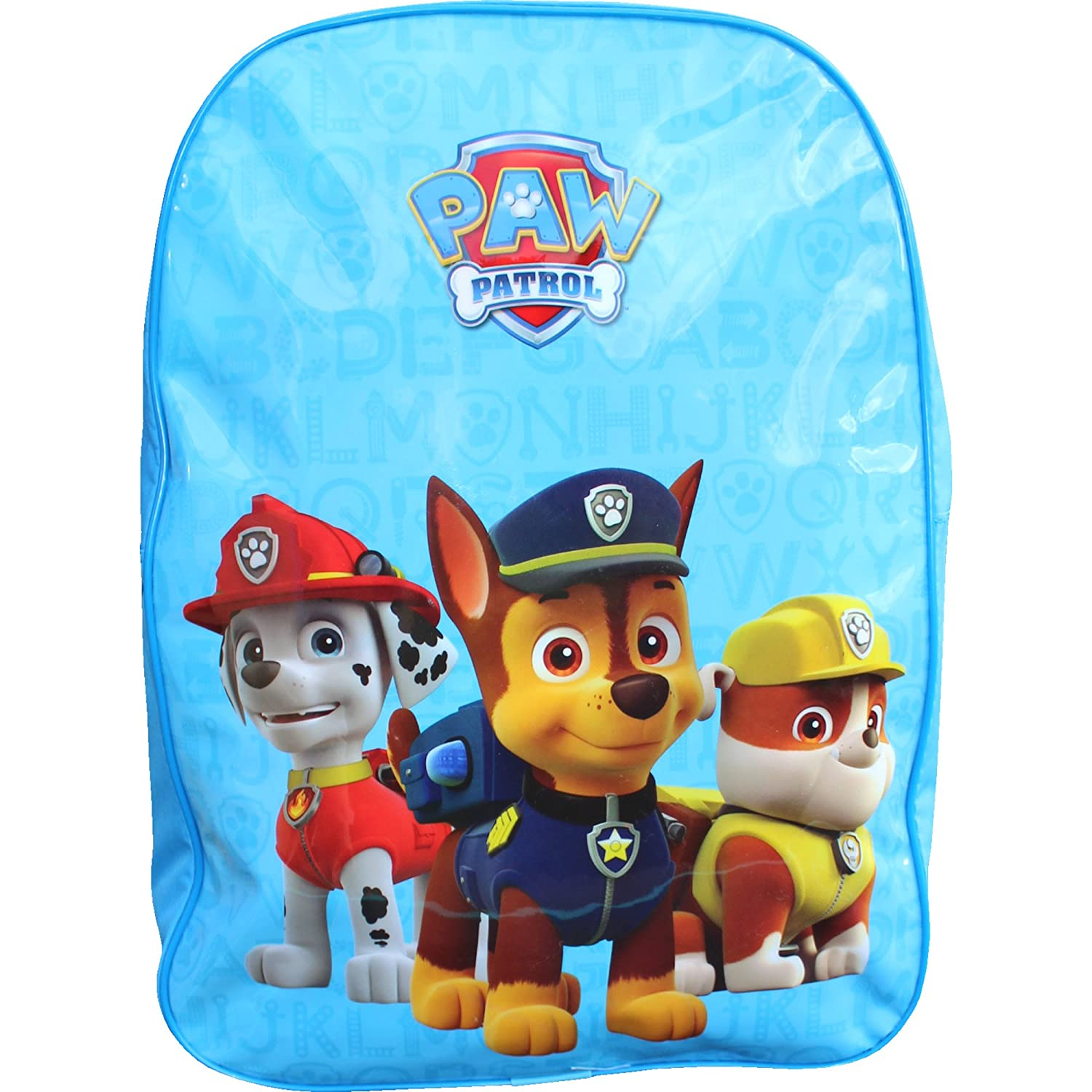 Paw Patrol Backpack with Hood Chase Rubble Marshall School Travel Bag Rucksack