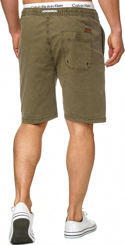 Indicode Caballero Stoufville Pantalones Cortos Chinos con 3 Bolsillos y cord/ón de 98//% algod/ón M/ás Corto Pantal/ón Regular Fit Bermuda Stretch Men Pants Verano para Hombres