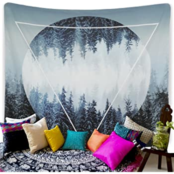 Tapestry Sunset Forest Wall Tapestry Trees Wall Hanging Tapestry Hippie Tapestry for Dorm Decor(59.1