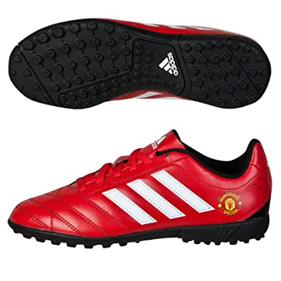 separation shoes 5bd01 b4d19 adidas MUFC Astro Turf Junior Football Soccer Trainer Shoe Red - UK 13