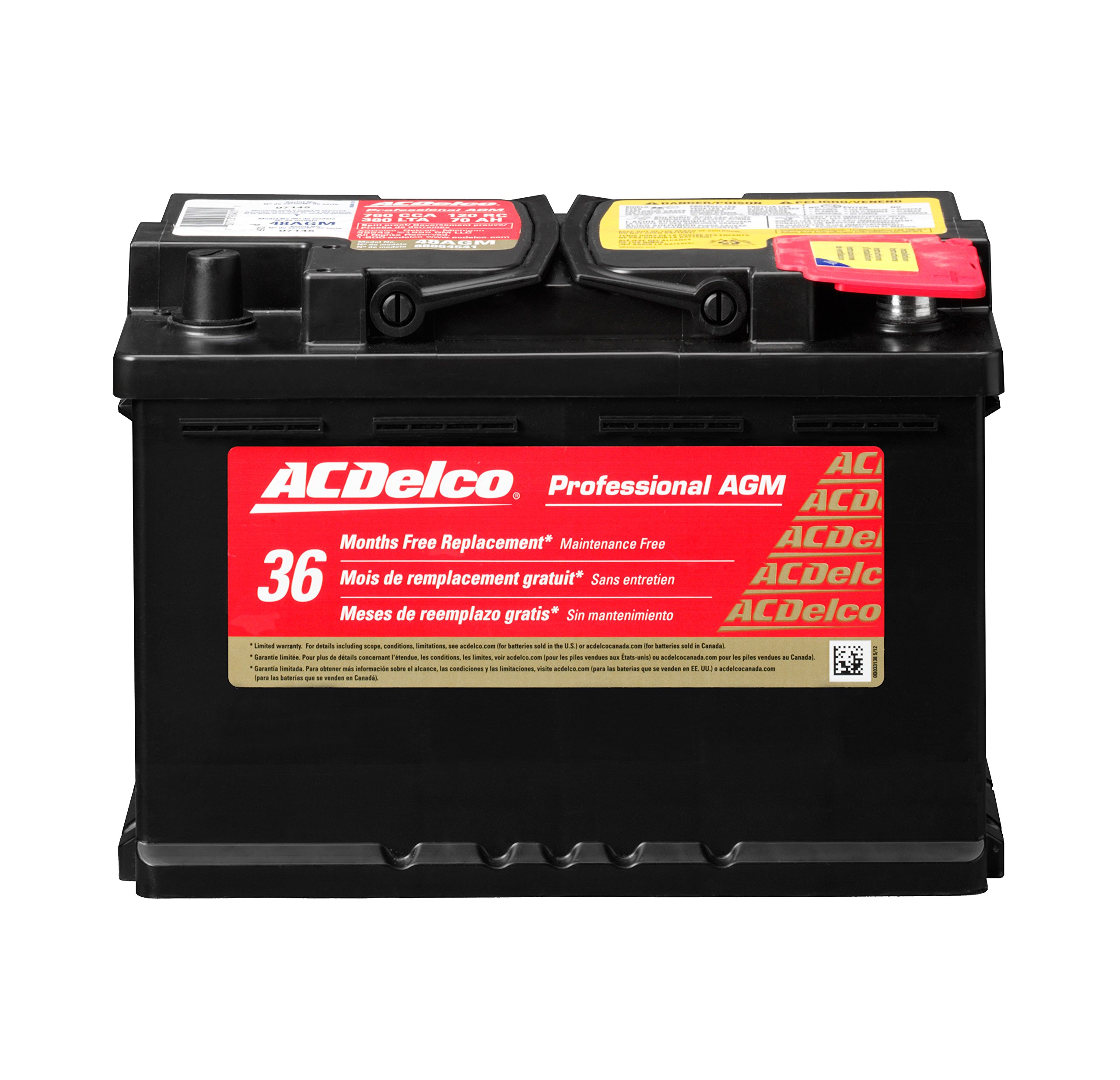 ACDelco 48AGM Professional AGM Automotive BCI Group 48 Battery by ACDelco