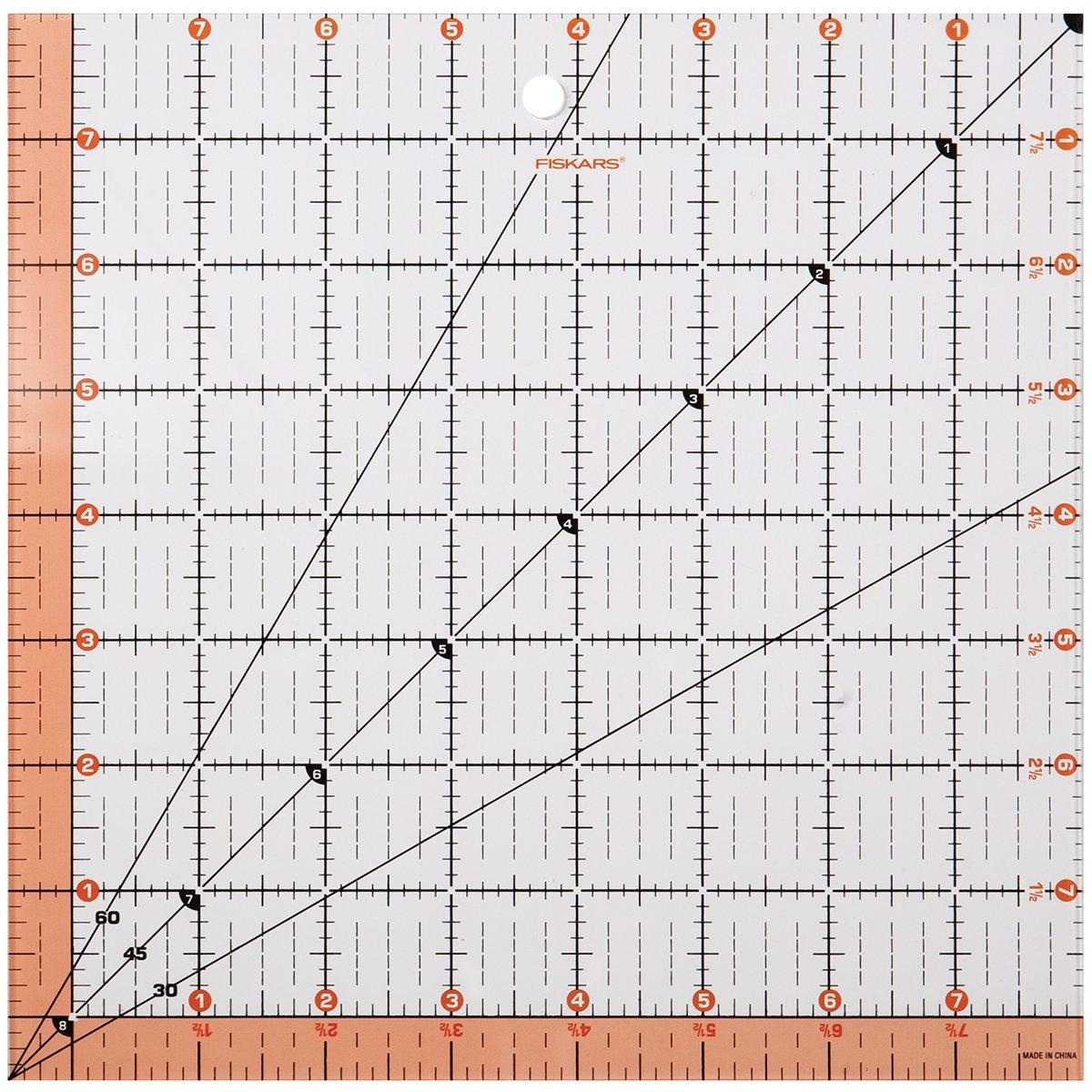 Fiskars 8.5x8.5 Square Acrylic Ruler (187200-1001) Cell Distributors 187200-1000