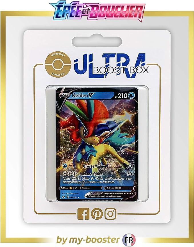 my-booster Keldeo V 53/202 - Ultraboost X Epée et Bouclier 1 - Coffret de 10 Cartes Pokémon Françaises: Amazon.es: Juguetes y juegos