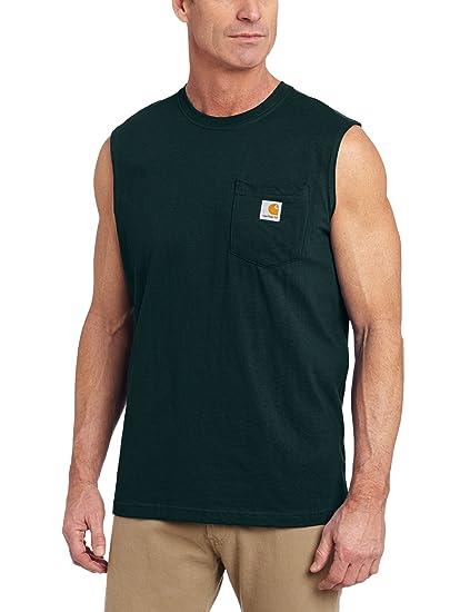 Carhartt Mens Workwear Pocket Sleeveless Midweight T-Shirt