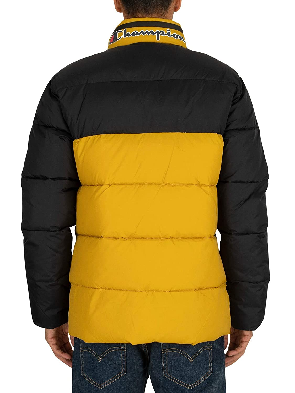 Yellow Champion Mens Puffer Jacket