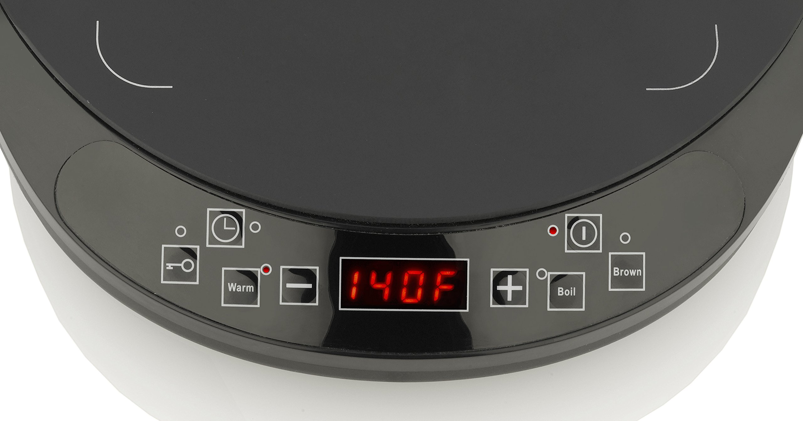 Fagor 2-Piece Induction Set with  Magnetic 1800 Watt Cooktop and 9.5'' induction ready PFOA Free Non-Stick Aluminum Skillet - 670041860 by Fagor (Image #2)