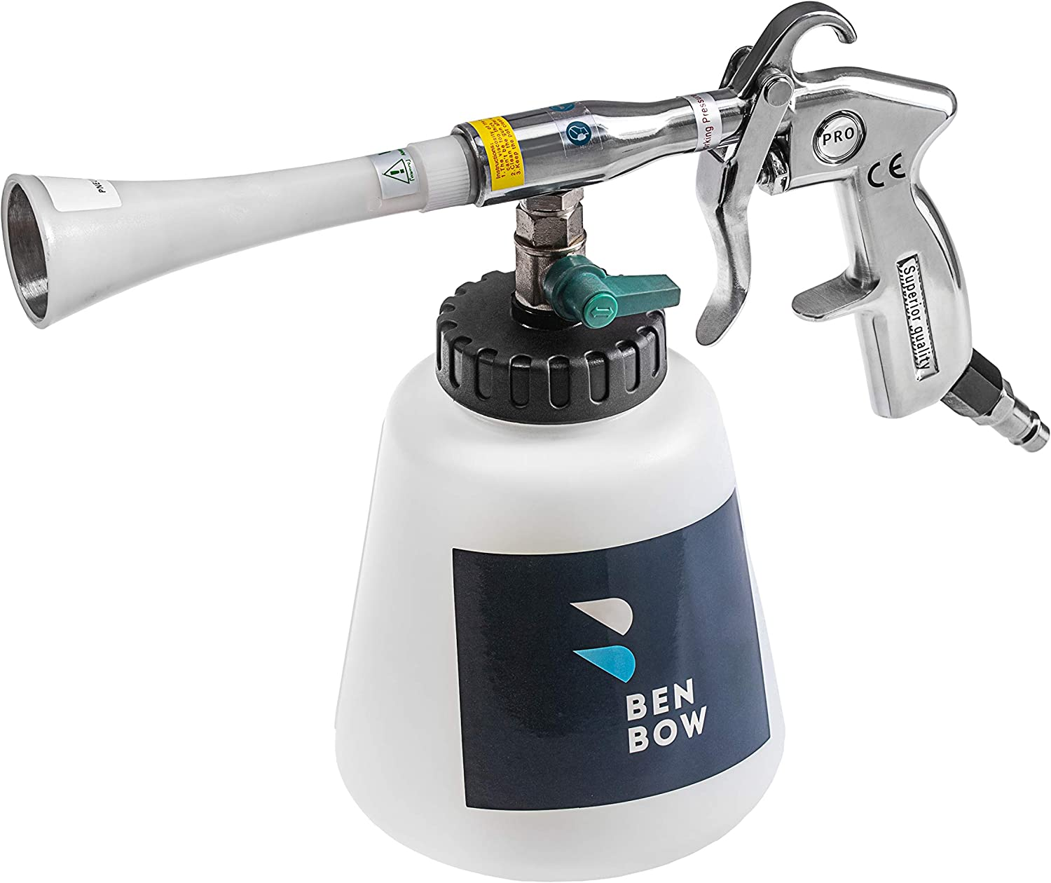 BENBOW Metal Nozzle Air Pulse Cleaning Gun for Car Upholstery (04)