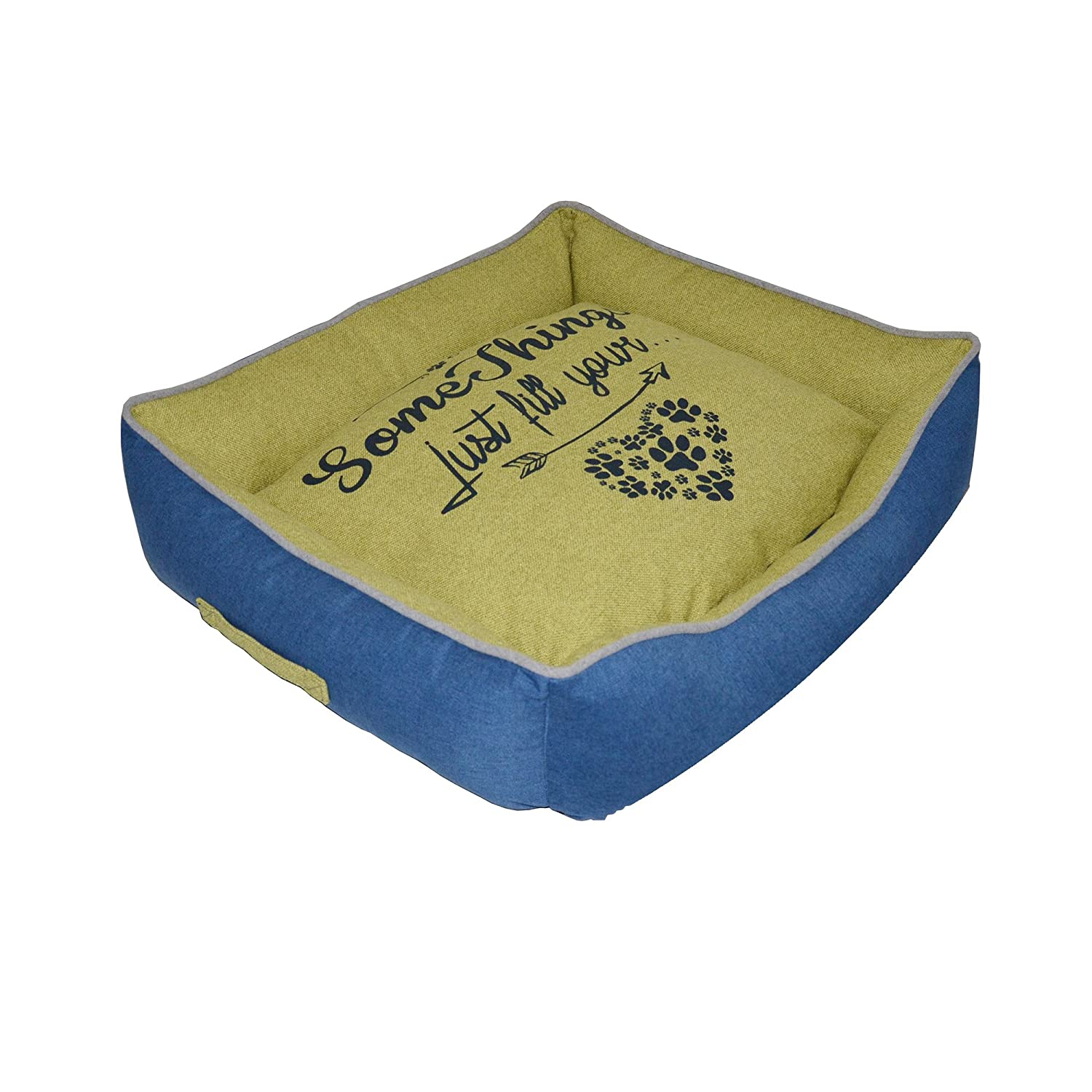 CROCI Pet Stuffed Rectangular Bed Family Series, 70 x 60 x 20 cm