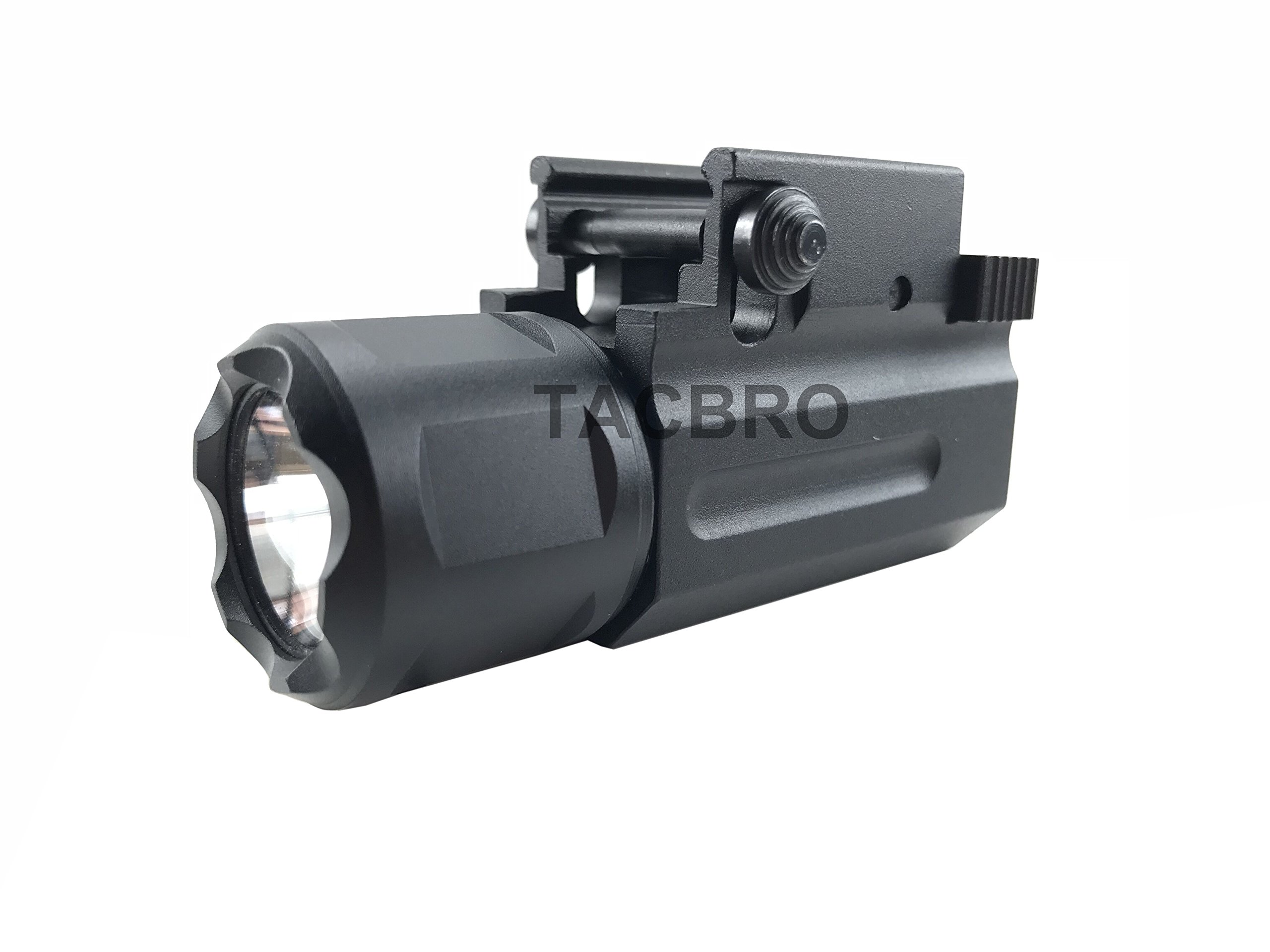 TACBRO Sub-Compact Pistol Flashlight 300 Lumen Quick Release On/Off Switch and QD Exact