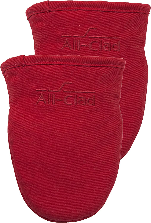All-Clad Textiles 89822 Grabber Mitt, 2-Pack, Chili