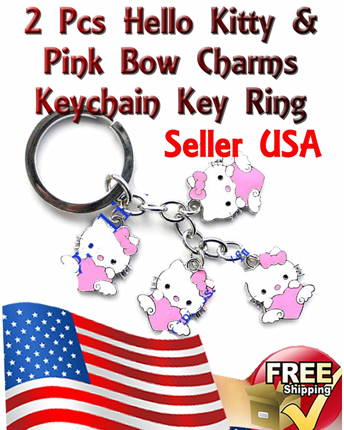 Amazon.com: Metal Single osito de Hello Kitty con llavero ...