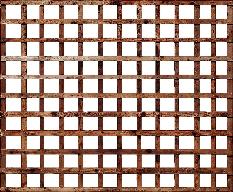 6ft x 5ft Weatherwell Square Garden Trellis Pressure Treated Timber Garden 6ft