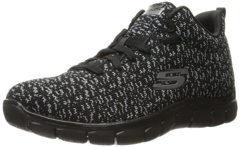 Skechers Sport Women's Empire Connections Fashion Sneaker B01HOBQI80 7 M US|Black/Charcoal