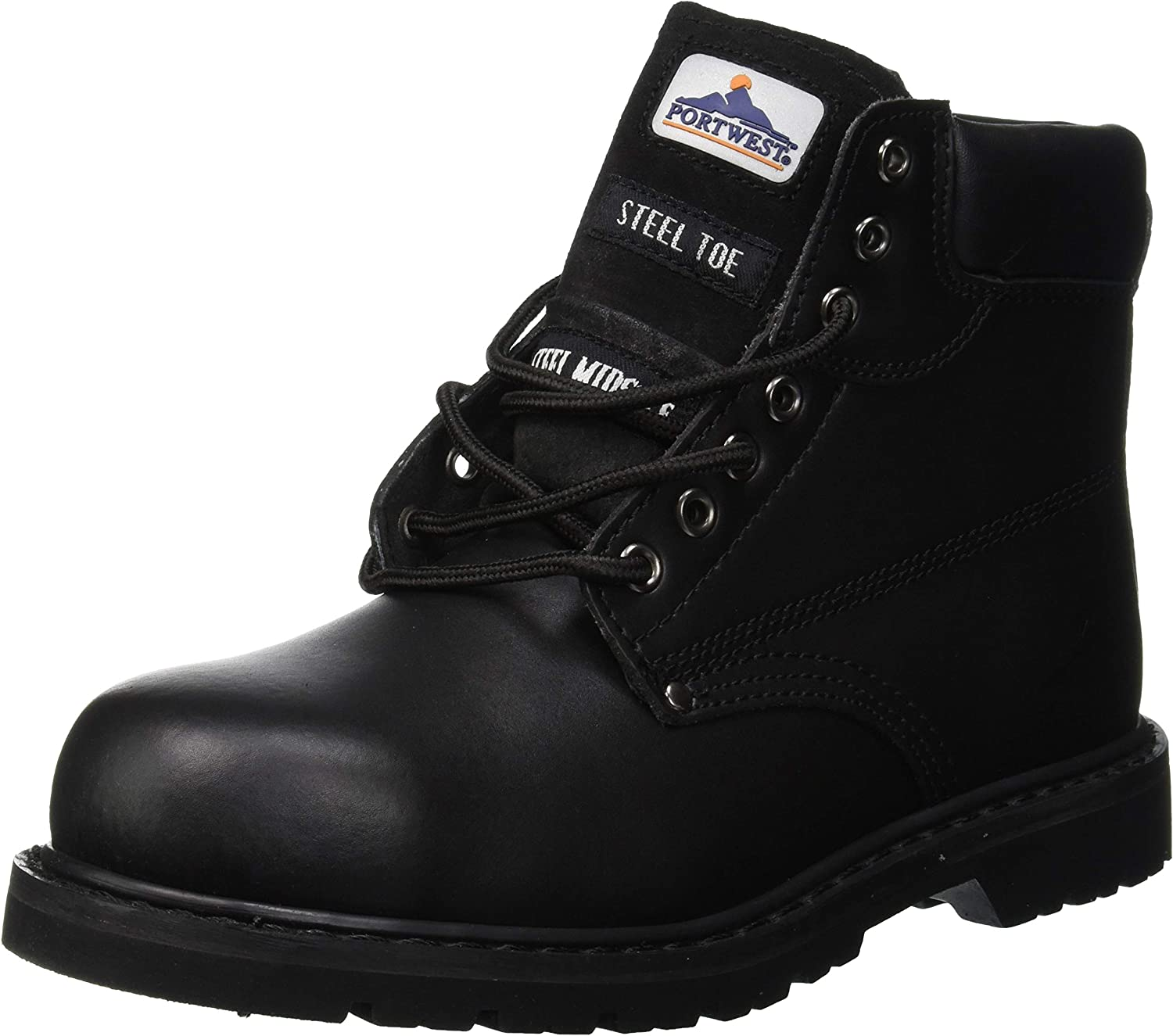 TALLA 41 EU. Portwest FW16 - Boot welted 41/7 PAS, color Negro, talla 41