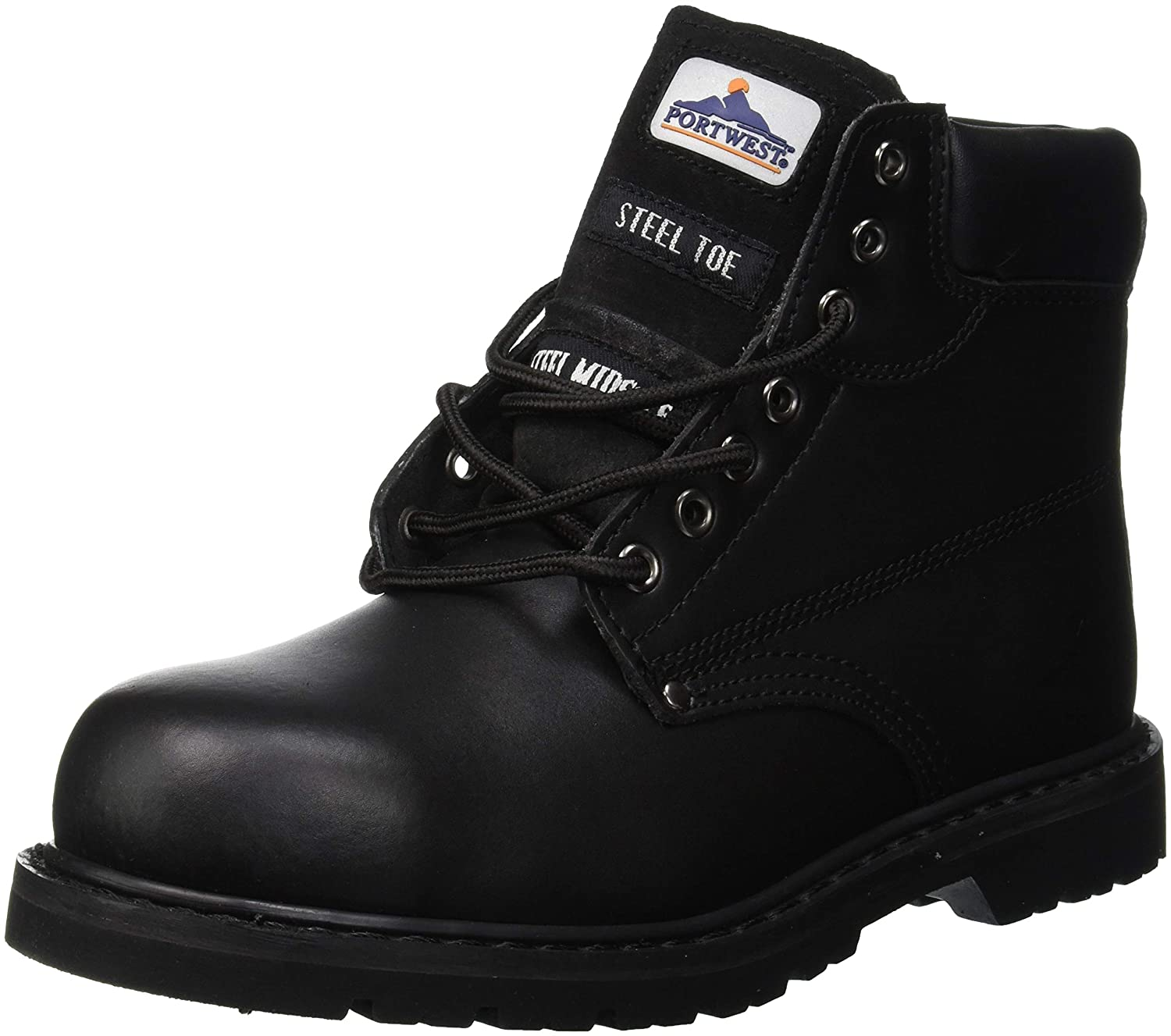 Portwest FW16 - Boot welted 41/7 PAS, color Negro, talla 41