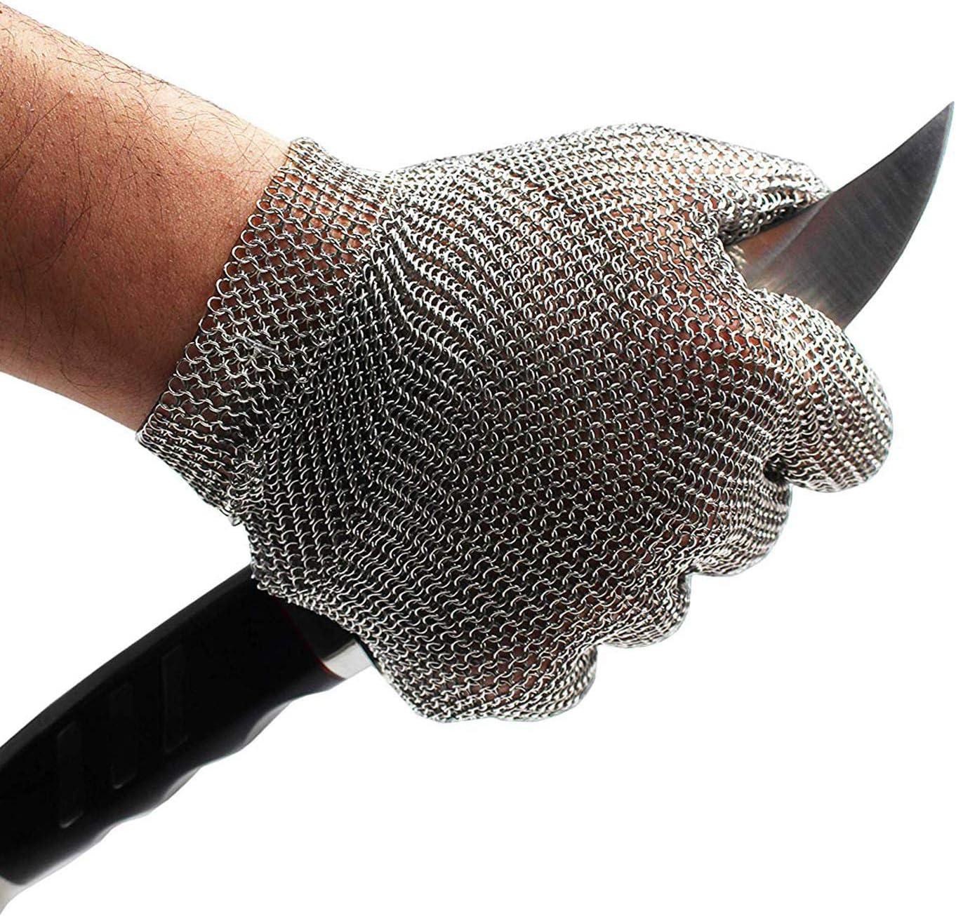 Amazon.com: Schwer - Guante de malla de acero inoxidable ...